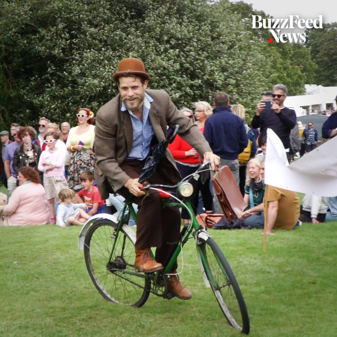 Men and women showed off their tea-pouring and umbrella-jousting skills at the Chap Olympiad 🎩🏅