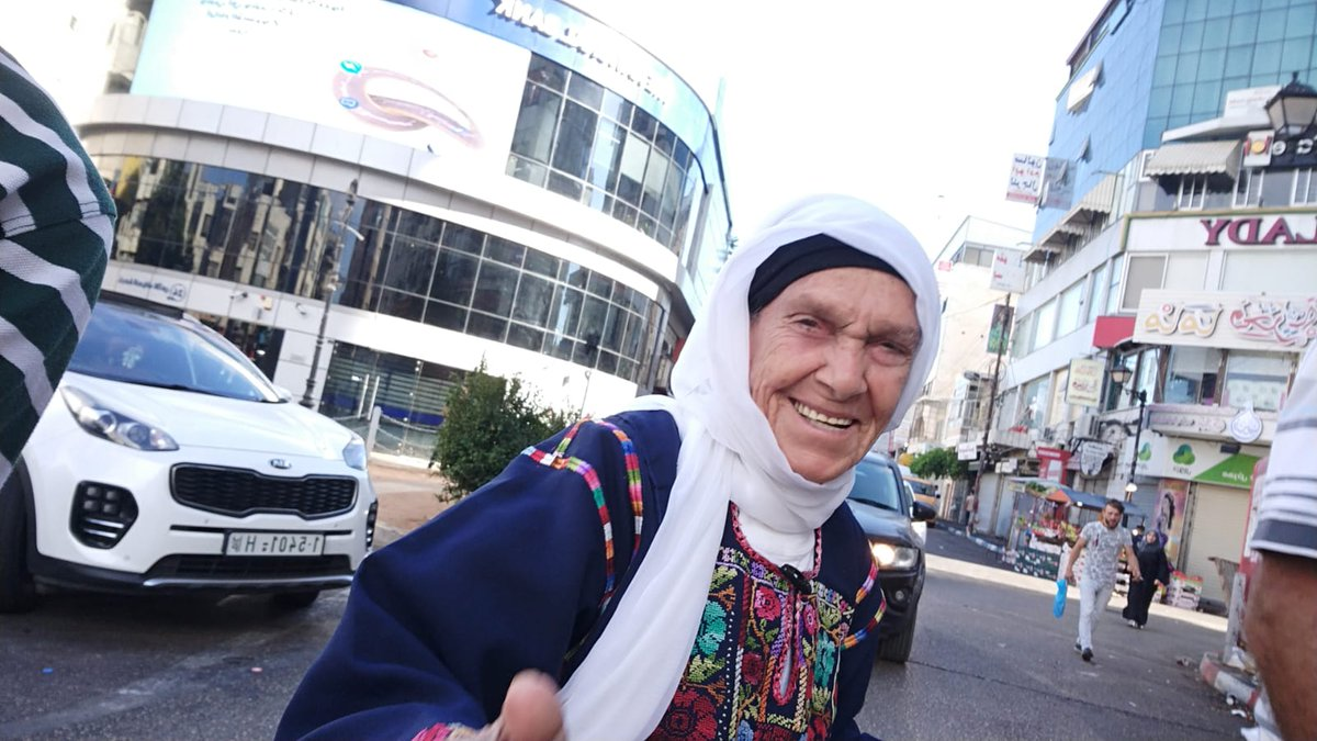 This woman right here is my sity. She deserves to live in peace & with human dignity. I am who I am because of her. The decision by Israel to bar her granddaughter, a U.S. Congresswoman, is a sign of weakness b/c the truth of what is happening to Palestinians is frightening.