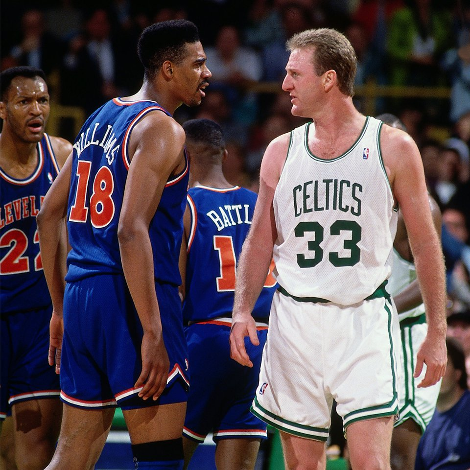 The picture says it all. Tune-in to @NBATV now to relive our 1992 Game 7 victory over @celtics! #TeamDay