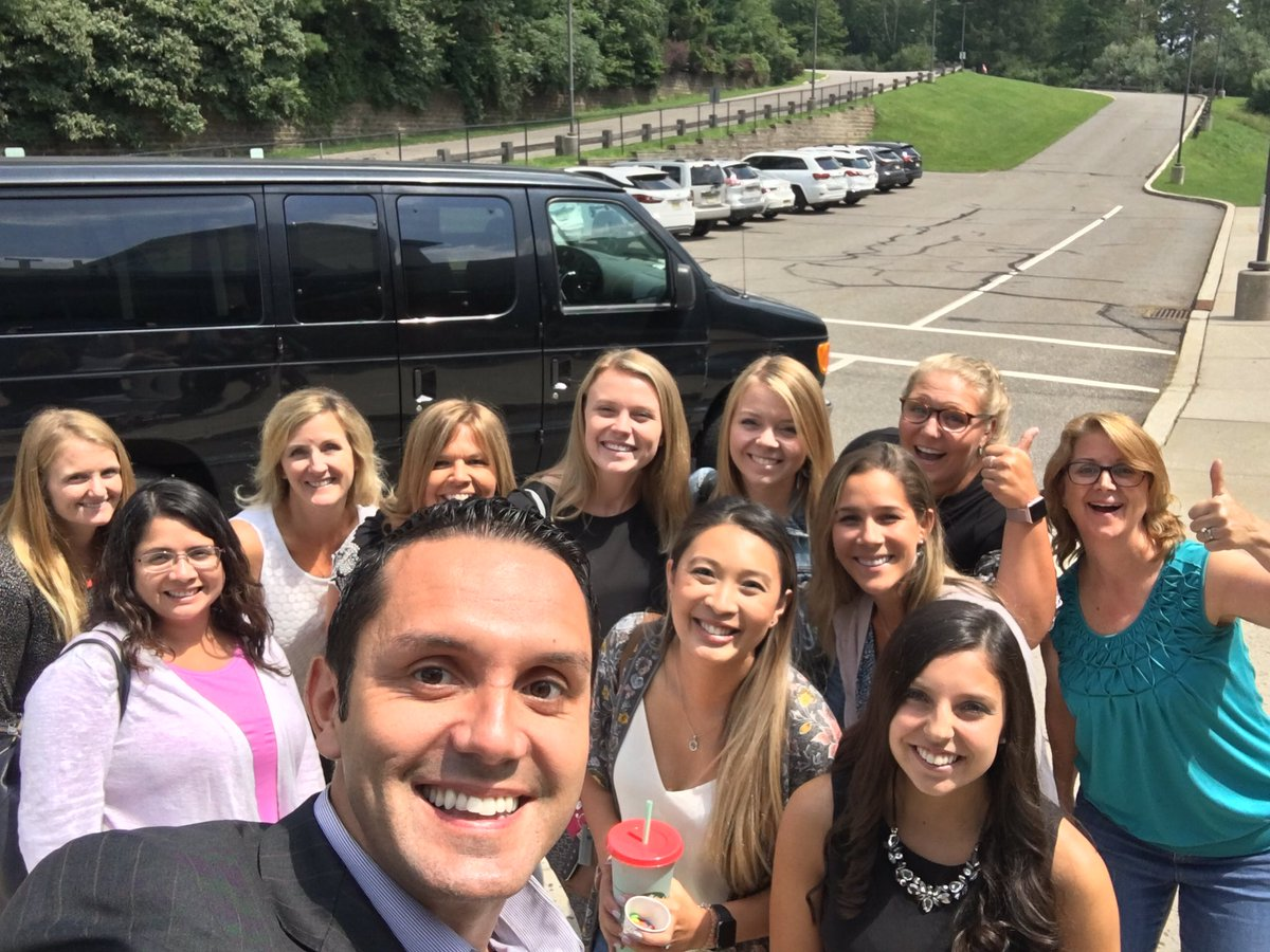 Had a blast giving our new teachers a tour of Union Township today! #TheU