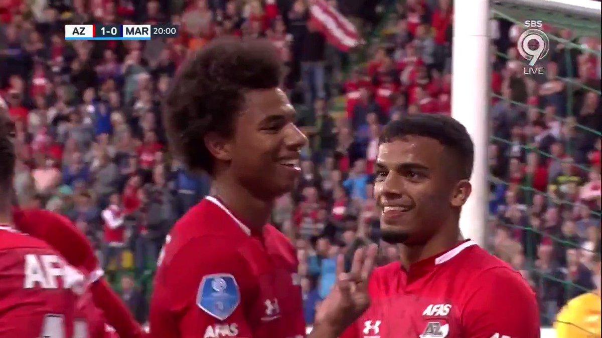 AZ - Marioepol 1-0 door Calvin Stengs