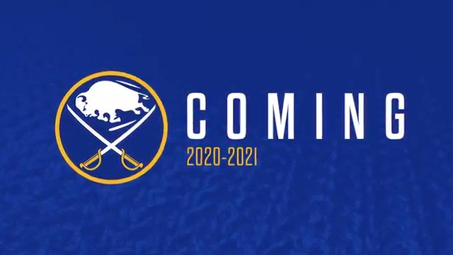 Coming 2020-21: royal blue. But this year, we're going gold. Tomorrow at 10 a.m. we reveal our #Sabres50 uniform.