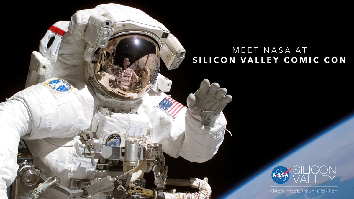 We'll be at @SVComicCon Aug 16-18. Follow @NASAExhibit for event updates and a look at the exciting @NASAAmes research and activities that will be on display. More info: bit.ly/2TCX7GP #SVCC