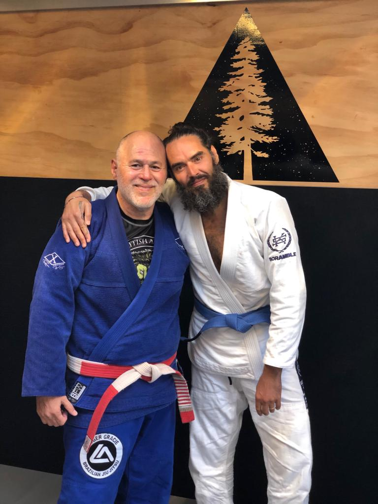 Me and the Great @MGomesBJJ . Plus Natalie Gomes and Chris Cleere at Inspire. A wonderful session in the company of a living legend.