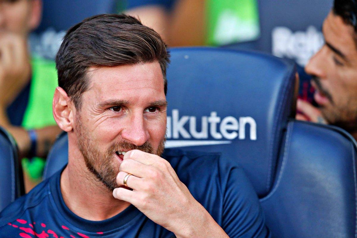Messi vai falhar a primeira jornada da La Liga contra o Athletic devido a uma pequena lesão no gémeo direito.