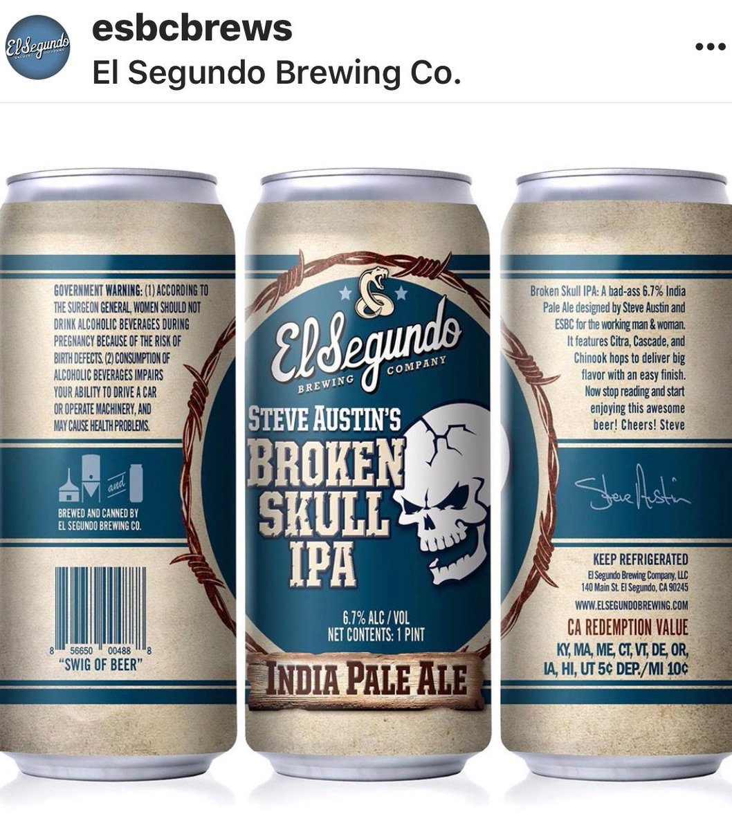 Broken Skull IPA now available in 16oz can. @ESBCBrews