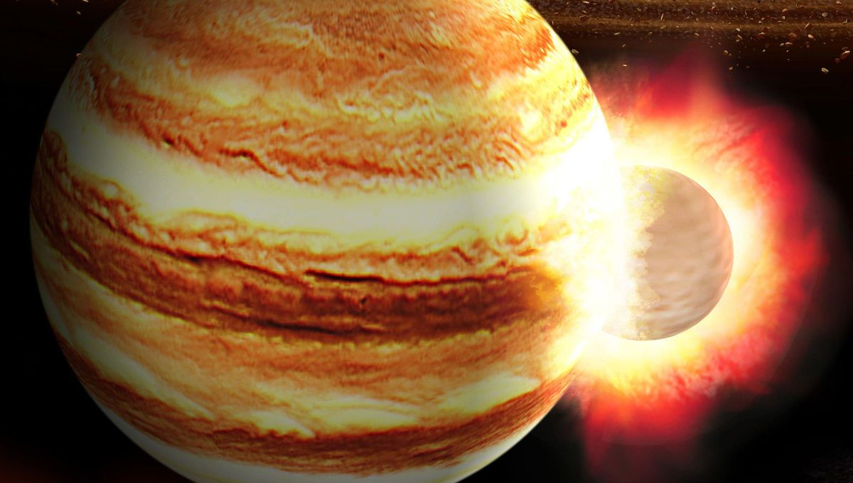 Was Jupiters core nearly destroyed by a massive planetary impact while it was still forming? syfy.com/syfywire/was-j… by @BadAstronomer