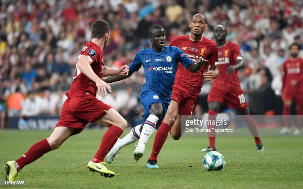 """Graeme Souness: """"Fabinho, twice he had Kante dance past him as if he had Jacques Cousteau boots, lead boots on. I'm not seeing a Liverpool that resembles the Liverpool we saw last season. I'm amazed Liverpool were more tired than Chelsea, they've had two extra days to rest"""""""