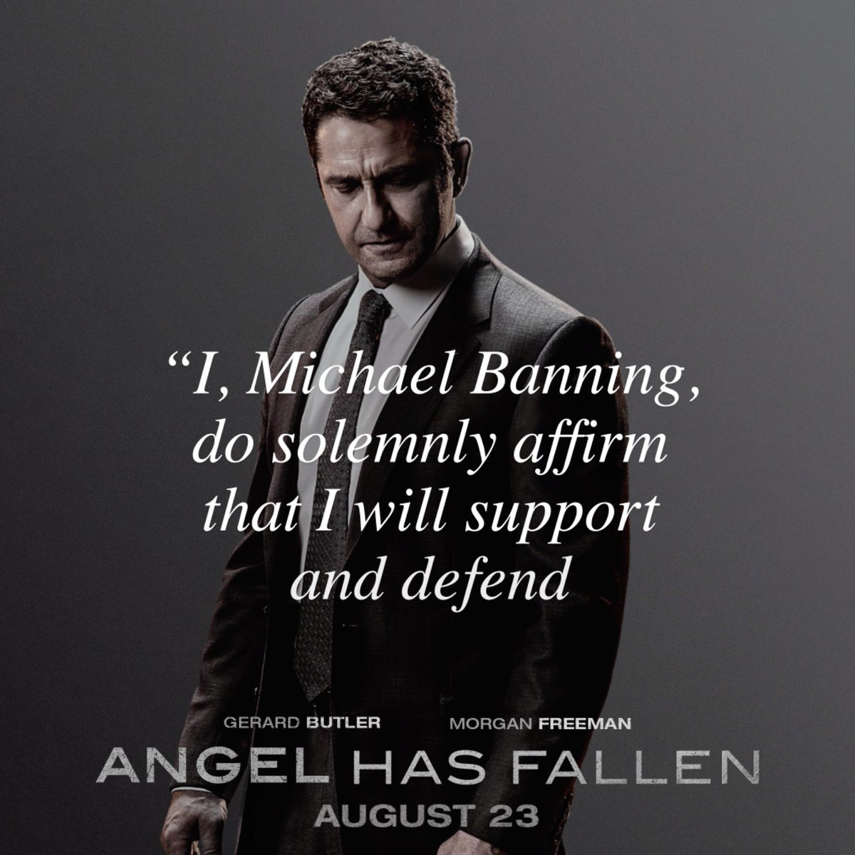 Your summer isn't complete until you experience #AngelHasFallen with Gerard Butler & Morgan Freeman. Reserve your seat: tickets.angelhasfallen.movie