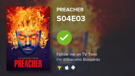 test Twitter Media - I've just watched episode S04E03 of Preacher! #preacher  #tvtime https://t.co/EorRynnwmg https://t.co/SnQNO6fbRk