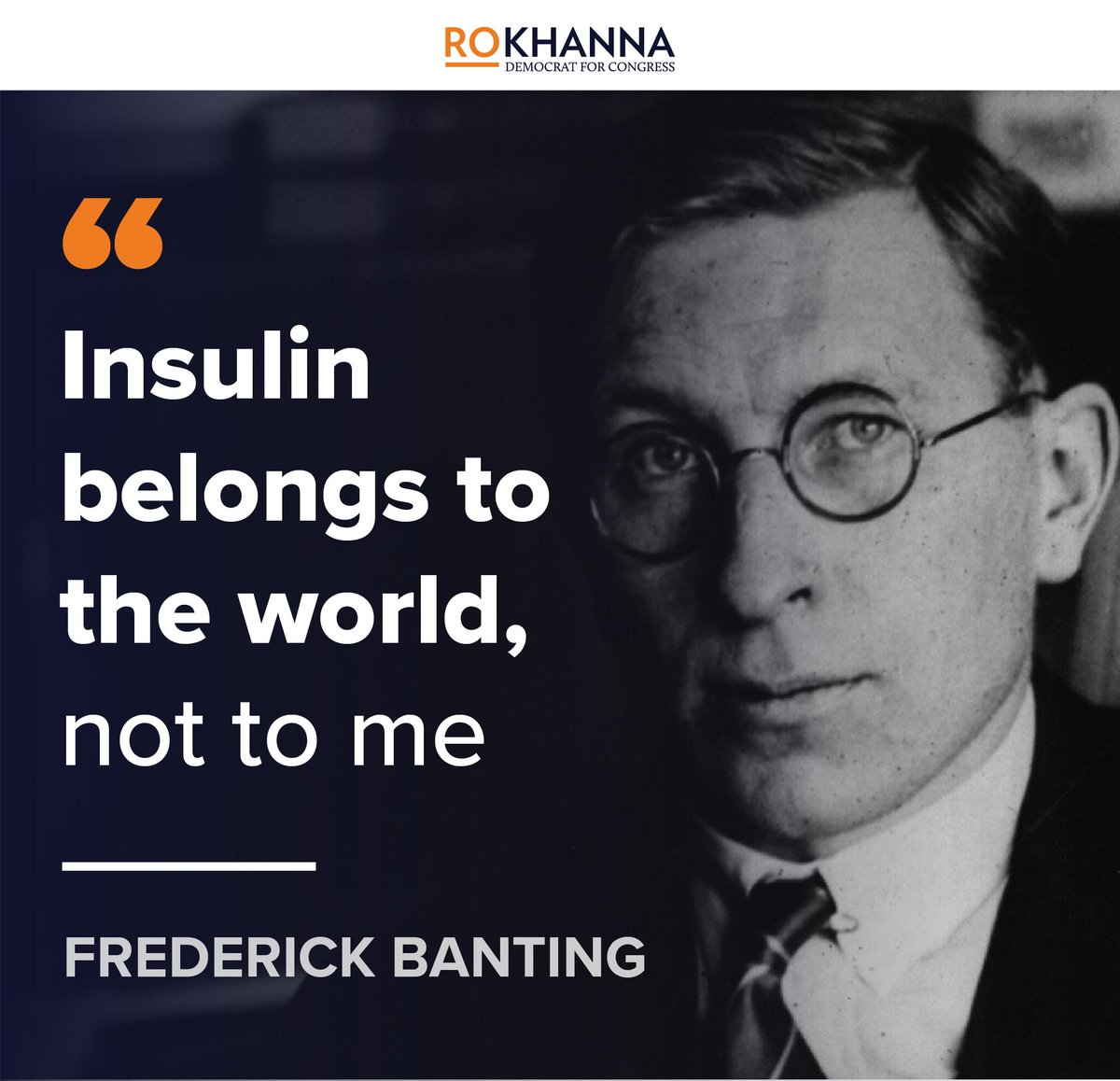 Frederick Banting invented insulin in the early 1920s and when it was mass produced, Eli Lilly offered $1 million for the patent.   Instead Banting took only $1.  Today, three companies abuse their patents for profit and prices have more than doubled since 2012. #Insulin4All<br>http://pic.twitter.com/ed7VQgVwDD