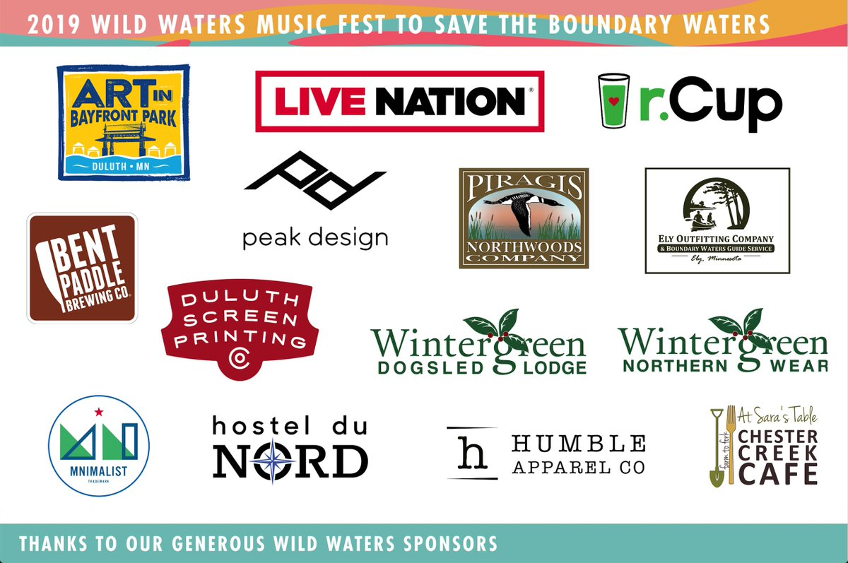Thank you to all of our Wild Waters Music Fest to Save The Boundary Waters Sponsors!