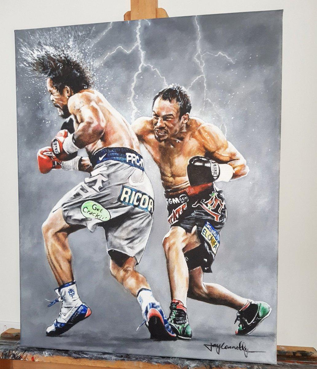 The moment @JMMarquezOf KO's @MannyPacquiao - Acrylic on canvas. <br>http://pic.twitter.com/dbJjRRcRok