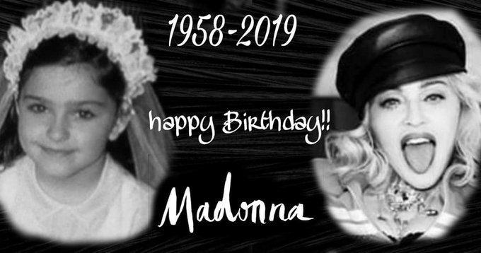 Happy 61st Birthday Madonna! I love you so much! Xx