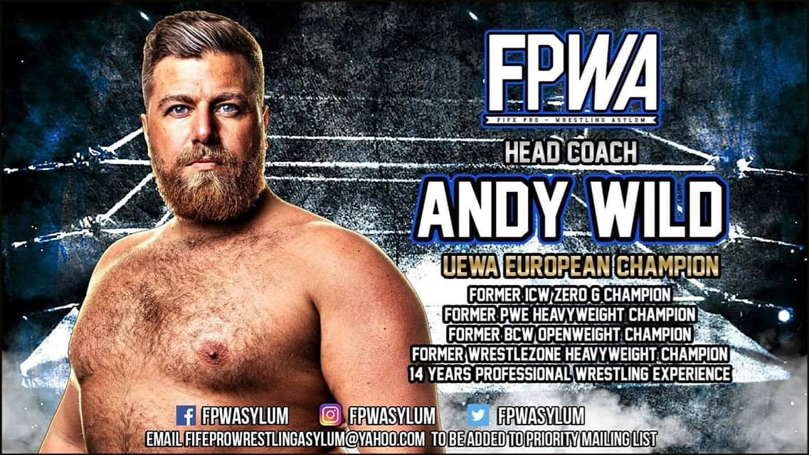 📣📣📣📣📣📣Introducing:Owner/Head Coach @ FPWAsylum,Andy Wild 🔥@AndyTheWildman*for full announcement visit our fb page: FPWAsylumTraining*