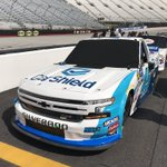 Tonight the #NASCARPlayoffs begin! @RossChastain's No. 45 @CarShieldUSA @NieceMotorsport @chevrolet Silverado sits ready to qualify @BMSupdates! #MelonManChallenge