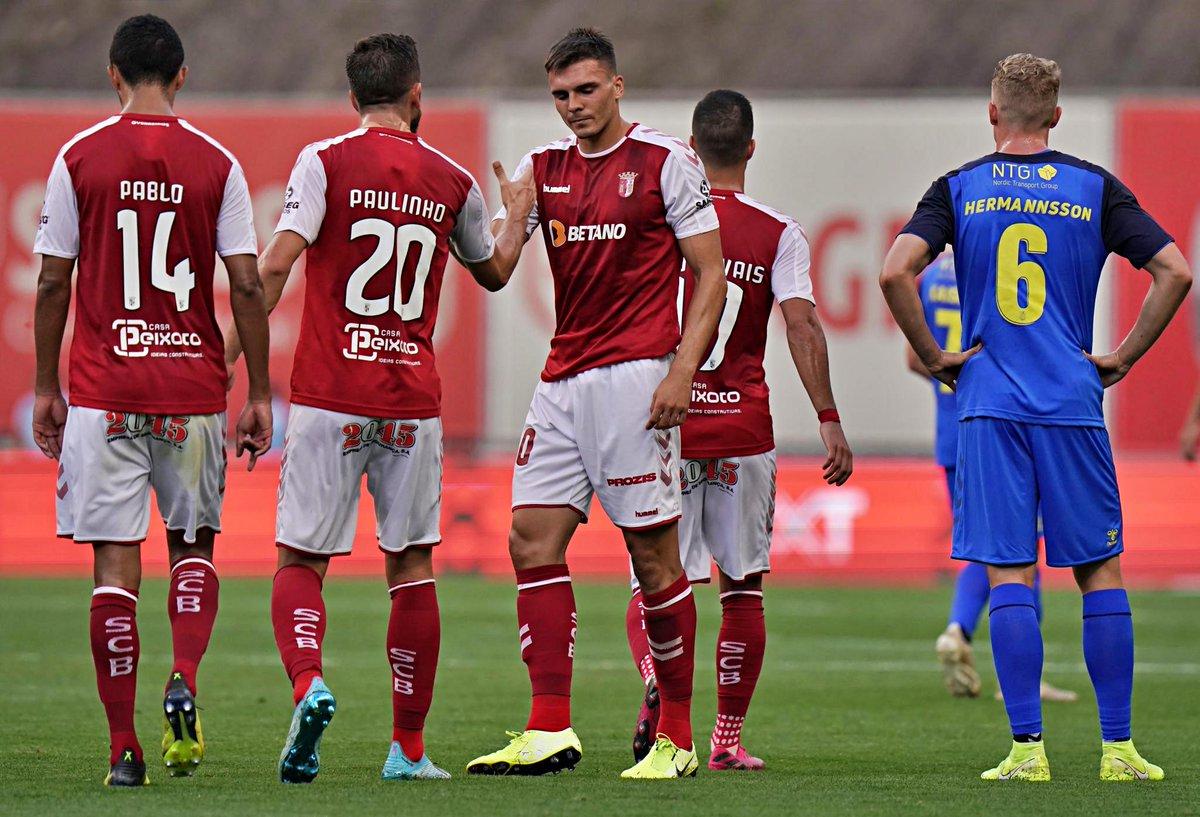 Braga está nos play-offs da Europa League após eliminar o Brondby.