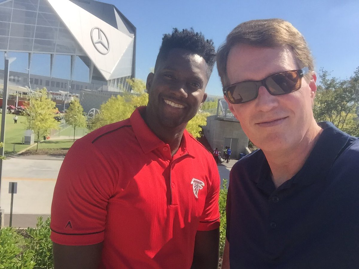 It's game day! @HDouglas83 and I in @HomeDepot Backyard next to @MBStadium for Countdown To Kickoff on @AtlantaFalcons Radio Network. It starts at 5:30pm ET. Kickoff at 7:30pm w/ @WesDurham @archerqb16 @929TheGame