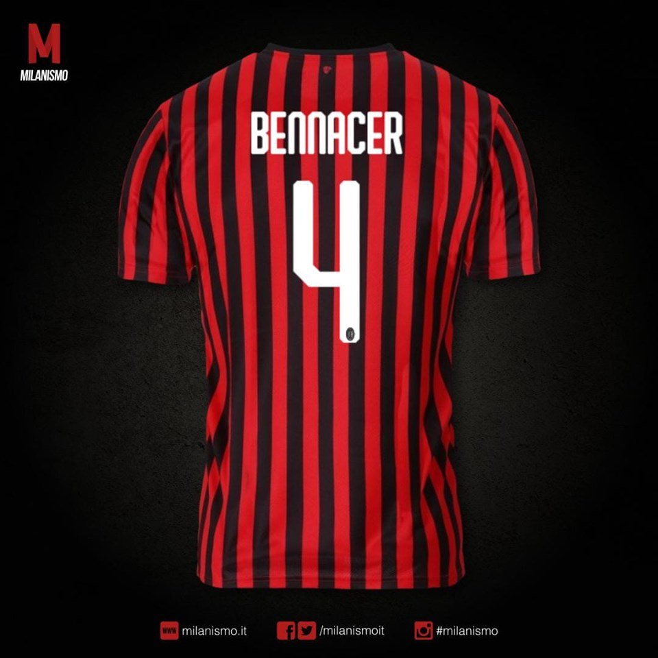 Ismaël Bennacer, MVP of #AFCON2019 , will wear the number 4 jersey with his new side AC Milan  #TeamDZ<br>http://pic.twitter.com/n8HuGSBd4a