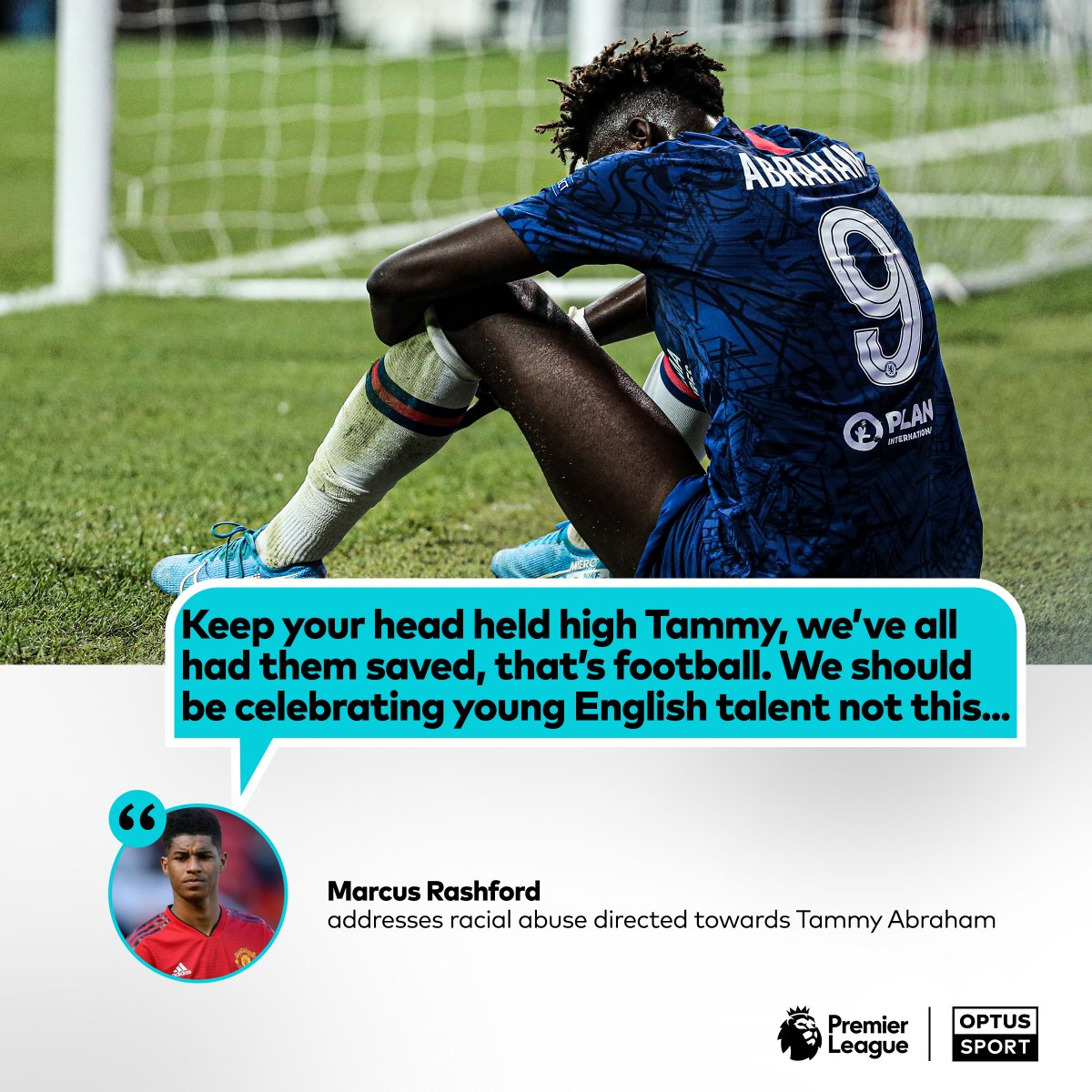 Optus Sport On Twitter Class From The Red Devil Marcus Rashford Throws Support Behind Abraham Tammy Abraham Who Missed The Decisive Spot Kick In Yesterday S Supercup Penalty Shoot Out Has Received A Torrent