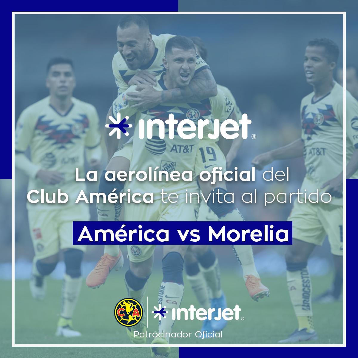 INTERJET, nuestro patrocinador oficial, te regala 10 pases dobles para el América vs Morelia‼✅ Sigue a @interjet🔁 RT a este tweet↪ Reply con #OutletInterjetInterjet contactará a 10 usuarios al azar el viernes 16 de agosto a las 10AM