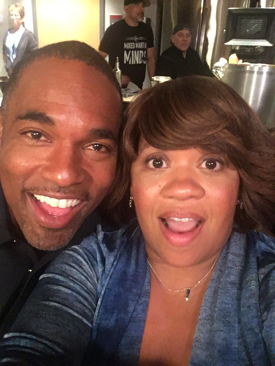 Ii'l #benley to tide y'all over til #tgit comes back #chandrawilson and I are back shootin @greysabc & @station19
