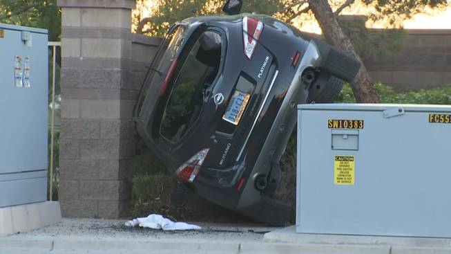 Driver escapes with minor injuries after wedging car by wall http://bit.ly/33Fydv0