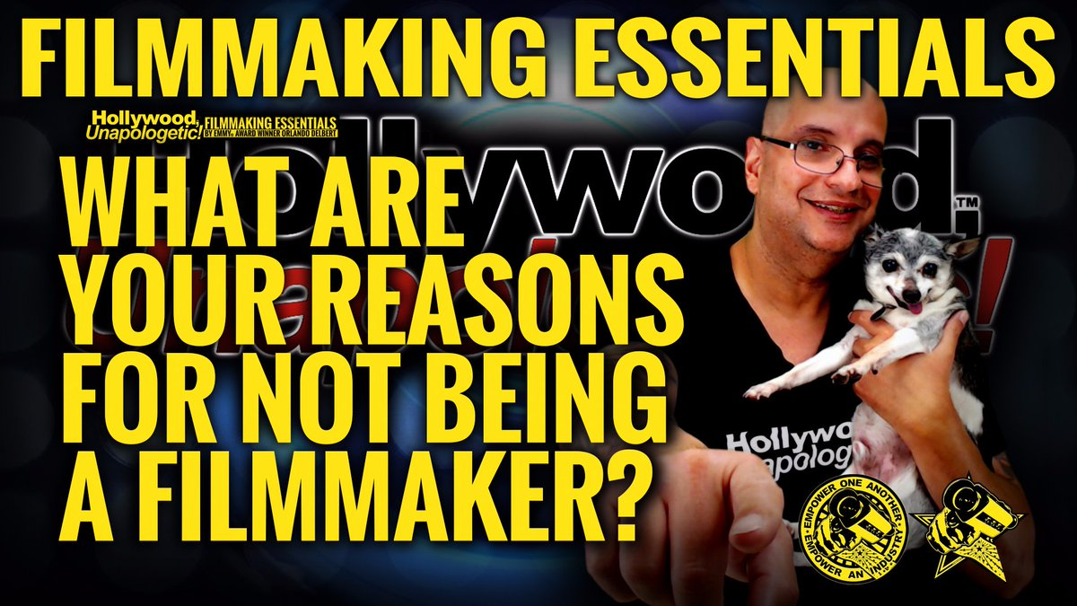 #FilmmakingEssentials: What Are Your Reasons For Not Being a Filmmaker? youtu.be/VCzZHgi_3n4 #HollywoodUnapologetic #NewHollywoodGeneration @orlandodelbert #SupportIndieFilm #Filmmaking #WomeninFilm #IndieFilm #Film #FilmProduction #HollywoodLife