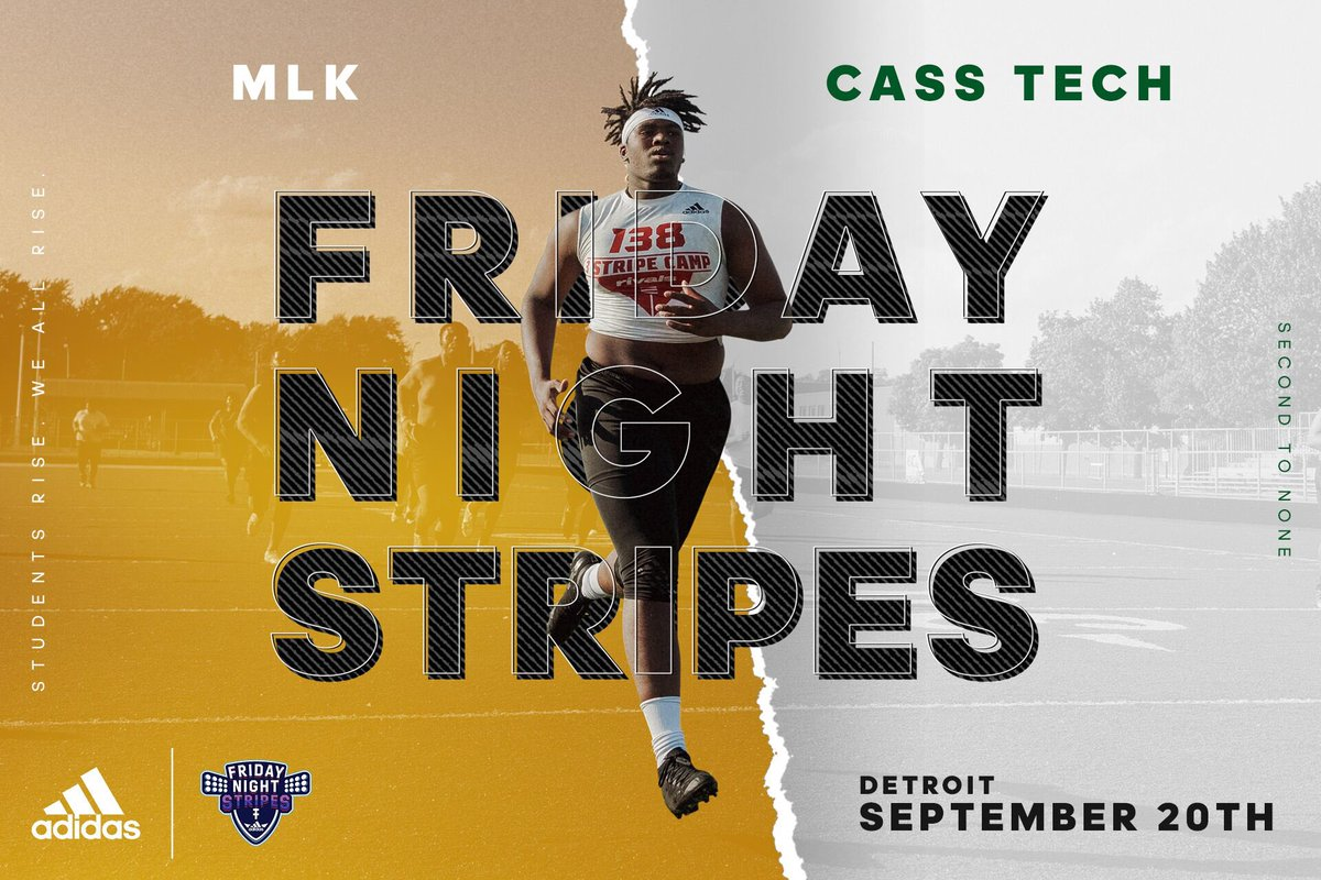 MOTOWN MADNESS   Nationally ranked and ready to rumble in week four of #FridayNightStripes  9/20.  @DetKingFootball /// @adidasfballus<br>http://pic.twitter.com/5yuIQXe3fQ