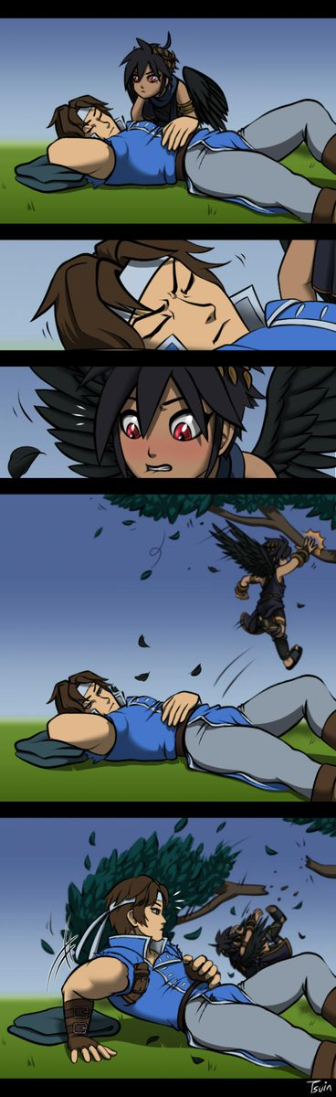 Dark Pit could probably learn more about Richter if he just asked, but he'd rather do things his own way, which is not the easy way.  #DarkPit #RichterBelmont #SmashBros  #KidIcarus #Castlevania  #ブラックピット #リヒター・ベルモンド #スマブラ <br>http://pic.twitter.com/MA26pLleVQ