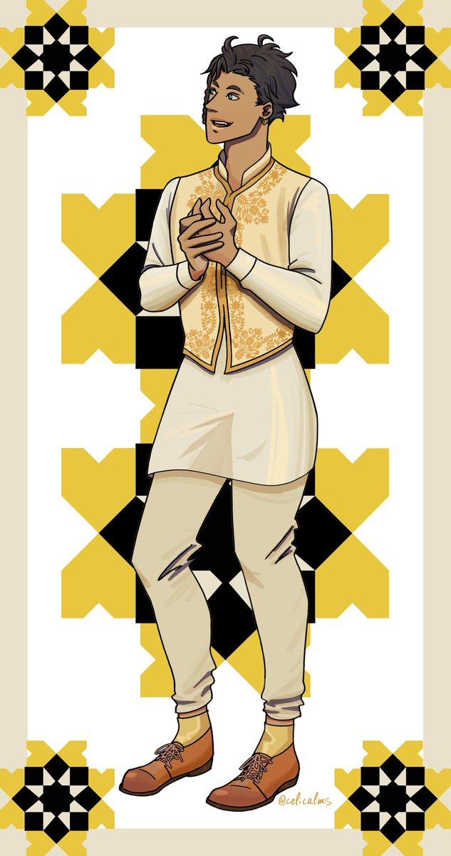 --عيد مبارك-- Eid Mubarak everyone! Late but I wanted to draw my favorite boy in a classic eid fit  I had fun working on details like the islamic tiles & the south asian embroidery  #FireEmblemThreeHouses thanks to @JoeZieja for supporting all our headcanons for Claude!<br>http://pic.twitter.com/D1EA1WW3mi