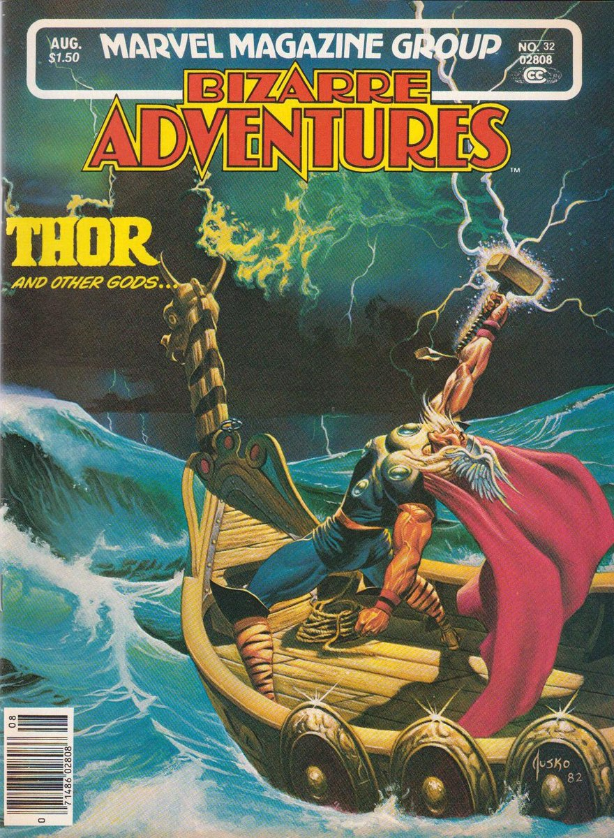 Thor and Other Gods. Bizarre Adventures, August 1982. Cover by Joe Jusko.