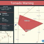 Image for the Tweet beginning: Tornado Warning continues for Osage