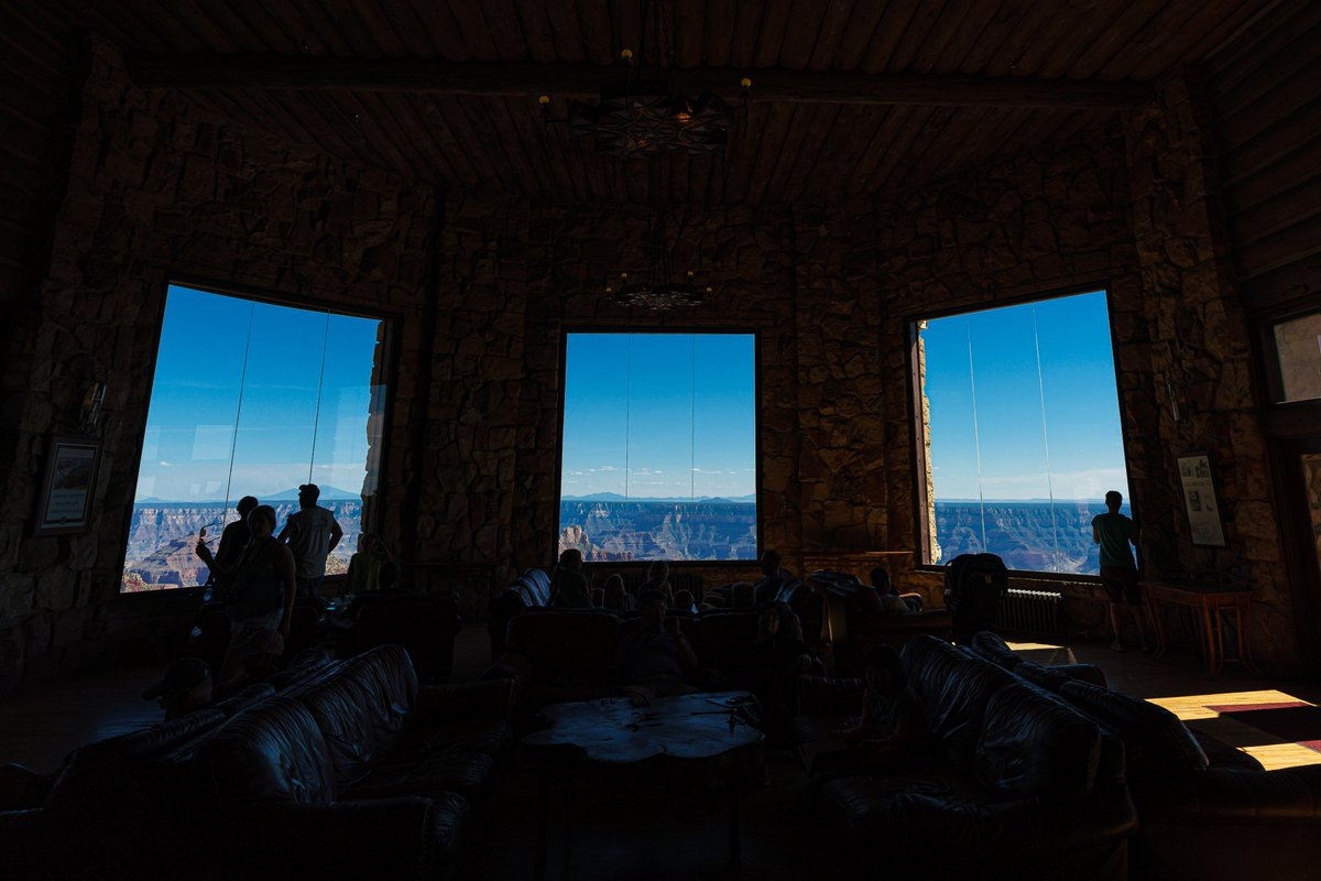 I couldn't believe how incredible the views were at the Grand Canyon North Rim lodge!  You could just sit and relax while taking in the expanse vistas! #arizona #grandcanyon @GrandCanyonNPS<br>http://pic.twitter.com/g0UAgSRvnC