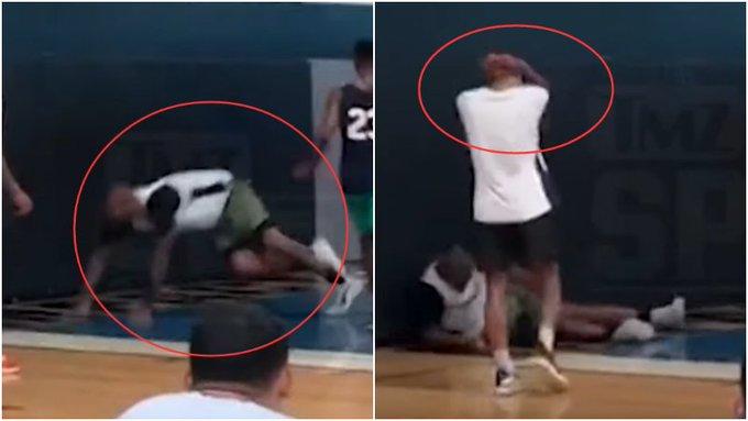 【影片】表弟受傷瞬間的影片流出,他落地後隊友第一時間抱頭祈禱:太可怕了!