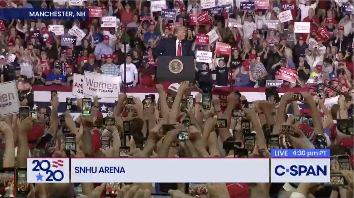President Trump Rally in Manchester, NH – LIVE on C-SPAN cs.pn/2YZwVHu