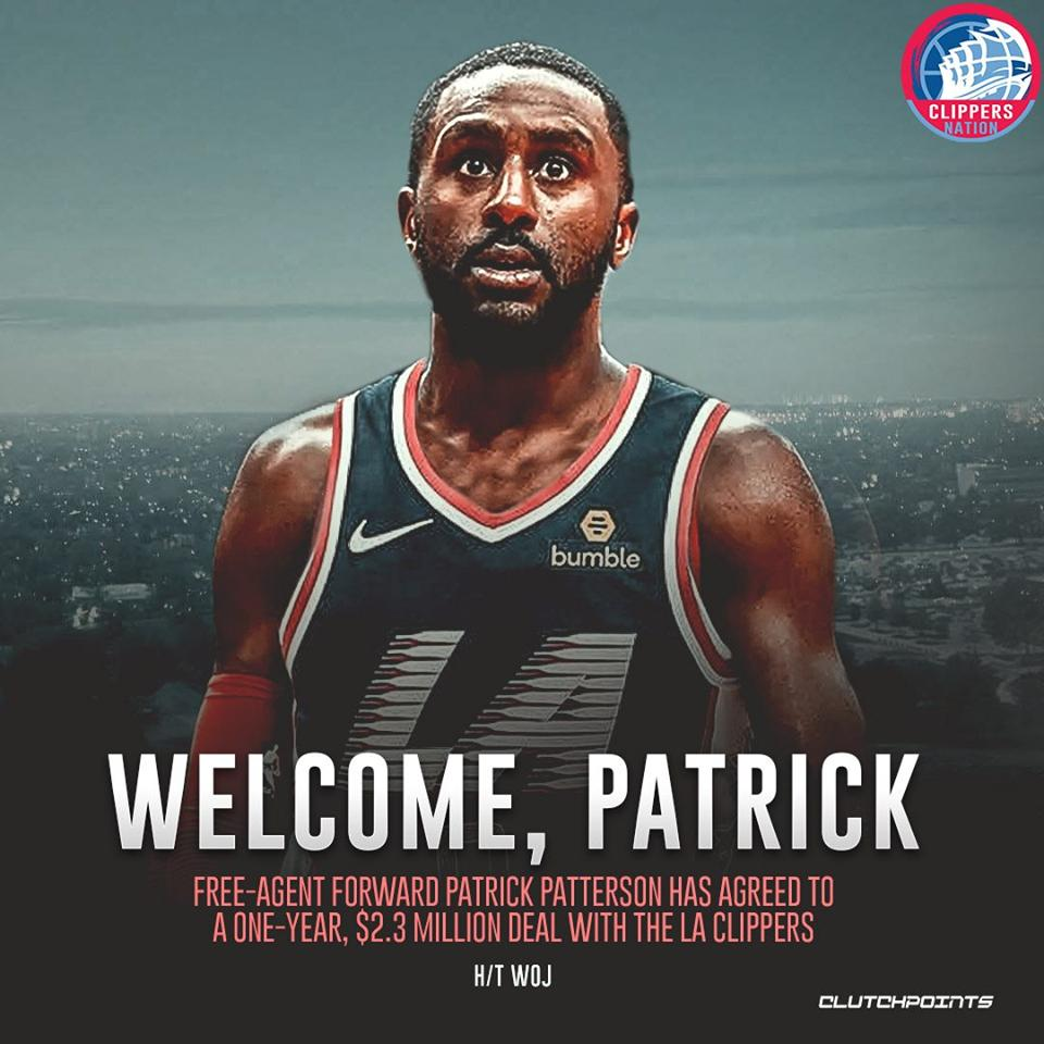 Our newest addition, Patrick Patterson! #Clippers #ClipperNation