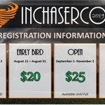 Image for the Tweet beginning: Are you registered for #INChaserCon