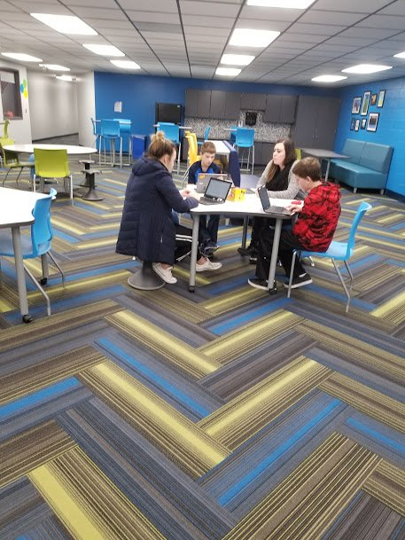 A2 Love our Learning Lounge and flexible classroom seating. #mschat