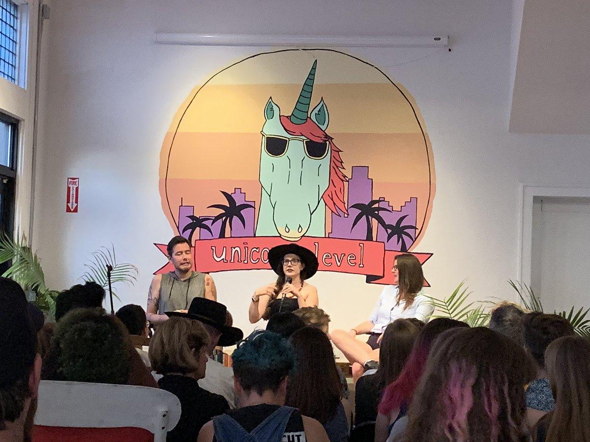 Reading at @TwoDollarRadio in my hometown with @Kristen_Arnett, @heyteebs, and @elissawashuta.🔥🔥🔥