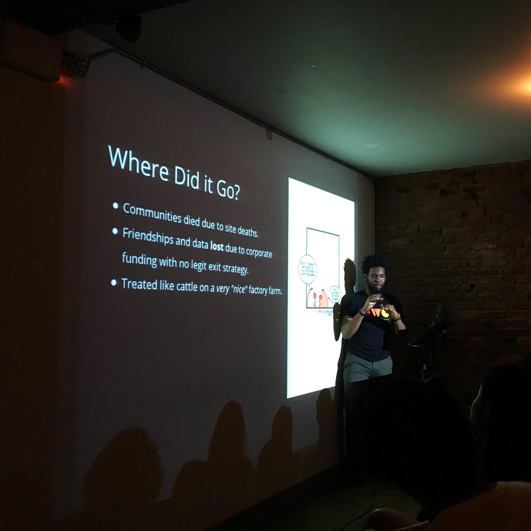 photo of jackyalcine presenting at Brooklyn JS