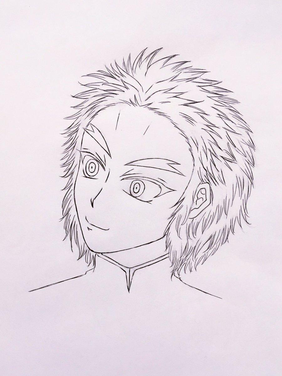 短髪な煉獄さんわっしょい_(´ཀ`」 ∠) 鬼滅の刃 落書き