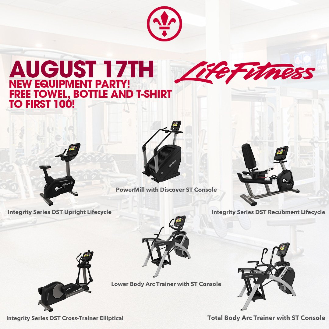 Don't forget to join us THIS SATURDAY August 17th from 8am to 2pm when we Premiere our new line of LifeFitness Cardio Equipment!  First 100 people will receive a complimentary towel, water bottle and T-Shirt. #lifefitness #cardio #ThePaseoClub #gym #fitnesspic.twitter.com/ok6g1KPT36