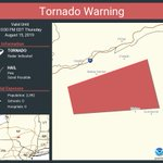 Image for the Tweet beginning: Tornado Warning continues for Delaware