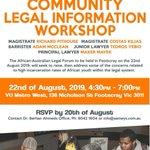 Image for the Tweet beginning: The African-Australian Legal Forum aims