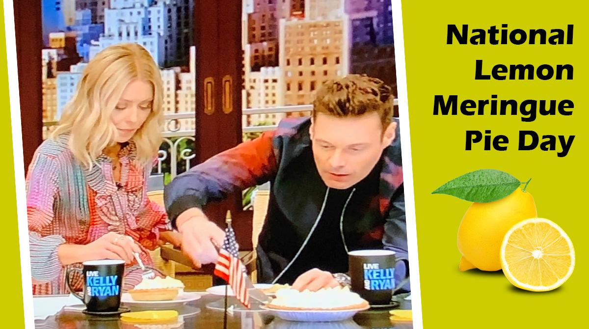 I *giggled* watching #KellyRipa and #RyanSeacrest celebrate National #LemonMeringuePieDay on their show this morning. No #cryptocurrency talk, I'm having fun after  vacation time away!  #KellyandRyan #NationalLemonMeringuePieDay #pieday #pie #cryptotwitter #thursdayvibes #retweet