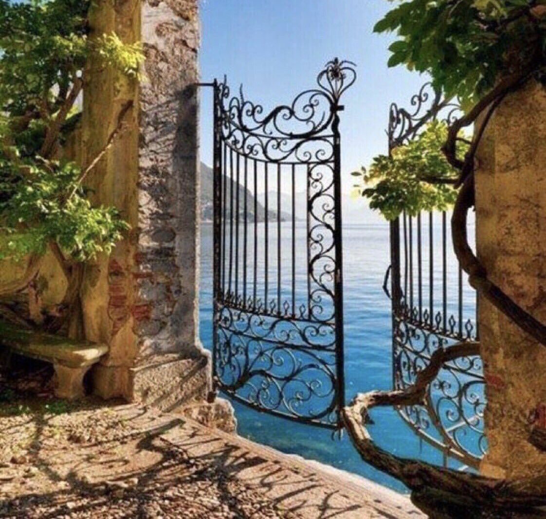 ❦Keep the gates of your heart ever open, for if you attempt to baracade yourself from all pain you will also shut out the advances of joy. ~Anne Scottlin #motivationalquotes #photo #LakeComo #anon #fridaymotivation #fridayfeeling