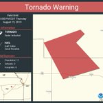 Image for the Tweet beginning: Tornado Warning continues for Wabaunsee