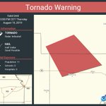Image for the Tweet beginning: Tornado Warning continues for Lyon