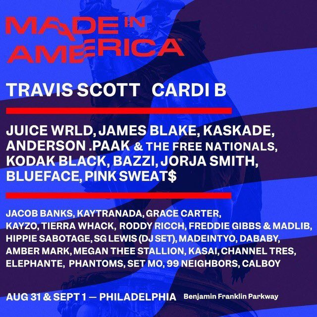 The Headliners: 😐 The smaller names:🙌🏽 #MadeInAmericaFestival